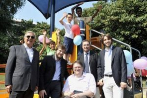 Inaugurazione dell'area-giochi accessibile al Parco Formentano di Milano