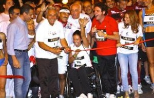 "Giusy Versace alla partenza di ""Happy Run 2012"""