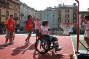 Partita di baskin (basket integrato)