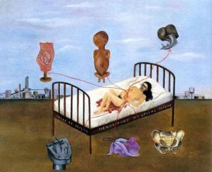 "Frida Kahlo, ""Ospedale Henry Ford"" (o ""Il letto volante""), 1932"