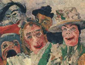 "James Ensor, ""L'intrigio"", 1890, particolare"