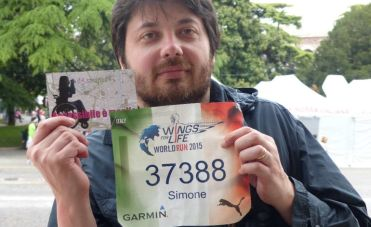 "Simone Fanti alla ""Wings for Life World Run"" del 2015"
