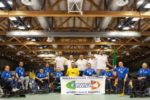 La Nazionale Italiana di wheelchair hockey che ha vinto la medaglia d'argento ai Campionati Europei in Olanda (©Photo Studio - PS)