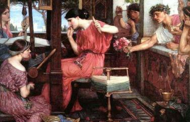 "John William Waterhouse, ""Penelope e i pretendenti"", 1912"