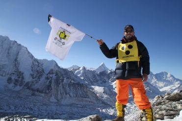 Dario Sorgato al campo base dell'Everest