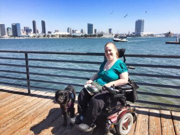 Karin Willison e Aria a San Diego in California