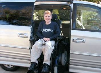 Christopher (USA), con distrofia di Duchenne