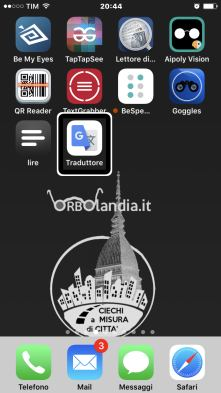 iPhone con il logo di Orbolandia.it