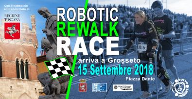 "Manifesto dell'evento ""Robotic Rewalk Race"", Grosseto, 15 settembre 2018"