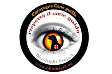 Logo di Blindsight Project per campagna su cani guida