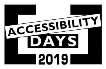 "Logo degli ""Accessibility Days 2019"""