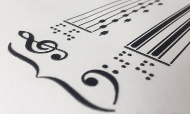 Spartito musicale in Braille
