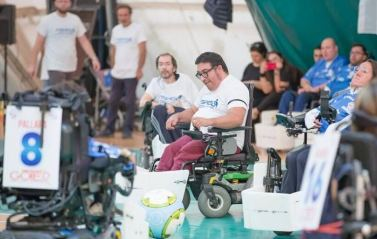 Partita di powerchair football (©Pasquale D'Orsi)