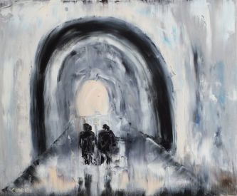 "Marino Chanlatte, ""Light at the End of the Tunnel"" (""La luce in fondo al tunnel"") (©Saatchi Art)"
