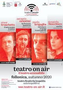 "Locandina di ""Teatro on air"", Follonica (Grosseto), autunno 2020"