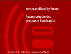 Il logo dell'European Disability Forum (EDF)