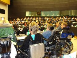 Il Parlamento Europeo di Strasburgo, in occasione dell'evento «Freedom Drive 2007», promosso da ENIL (European Network on Independent Living)