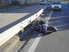 Un incidente in moto