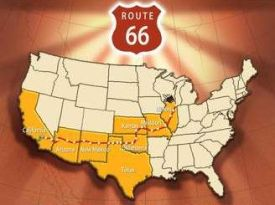 L'itinerario della Route 66, da Chicago a Los Angeles