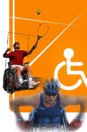 Collage di sportivi con disabilità