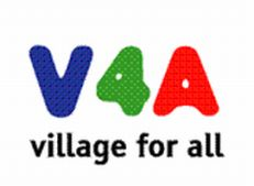 Il logo di Village for all (V4A)