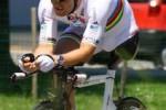 Il campione italiano di paraciclismo Fabrizio Macchi