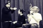 Alcuni attori del Magnifico Teatrino Errante in scena