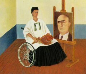 """Frida Kahlo, """"Autoritratto con il dottor Farill"""", 1951"""