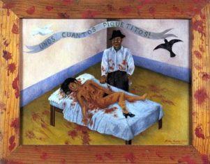 """Frida Kahlo, """"Qualche piccolo colpo di pugnale"""", 1935"""