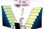 Disegno di Agostino e Franco Origone,, realizzato in esclusiva per «DM», giornale della UILDM (Unione Italiana Lotta alla Distrofia Muscolare). Per gentile concessione.