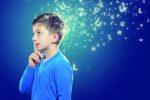 Una realizzazione grafica centrata su un ragazzo con dislessia