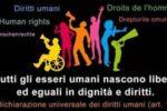 Una realizzazione grafica dedicata ai Diritti Umani
