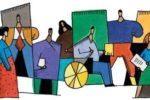 Realizzazione grafica elaborata in occasione di un evento dedicato all'inclusione delle persone con disabilità