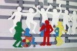 """Un murale realizzato dai giovani con disabilità intellettiva e psichica della Cooperativa Il Margine di Torino, rielaborando la celebre opera di Giuseppe Pellizza da Volpedo """"Il Quarto Stato"""""""