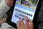 """Il giovane allievo con autismo di Luisa De Simone alle prese con l'app """"Animali - Indovina tutti i mammiferi e gli uccelli"""""""
