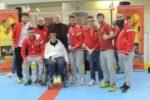 Un gruppo di componenti dell'Associazione Sportiva Dilettantistica Calcio Veneto For Disable, durante un torneo internazionale dello scorso anno a Padova
