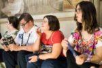 """Alcuni partecipanti al progetto """"Vado al Museo!"""", promosso dalla Fondazione Dopo di Noi di Bologna"""