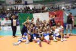 La Nazionale Italiana di Pallavolo Sorde che ha vinto a Cagliari il Campionato Europeo