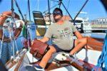 Lo skipper con disabilità motoria Sante Ghirardi, fondatore dell'Associazione Marinando di Ravenna