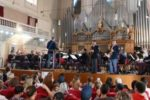 Un'immagine del concerto della Banda Musicale della Polizia di Stato cui ha assistito un pubblico composto da persone con diverse disabilità, oltreché dai loro familiari e dagli operatori