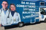 """Il camper che sta girando l'Italia, protagonista del """"DownTour"""" dell'AIPD"""