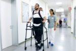 Sperimentazione dell'esoscheletro antropomorfo su persona con lesione midollare