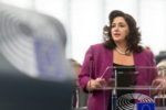 epa06027284 Minister for Social Dialogue, Consumer Affairs and Civil Liberties in Malta Helena Dalli delivers her speech at the European Parliament in Strasbourg, France, 14 June 2017, about the Preparation of the European Council of 22 and 23 June 2017.  EPA/PATRICK SEEGER