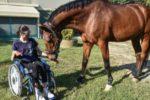 Letizia con il suo fidato cavallo Coriandolo