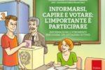 """La copertina del libro """"Informarsi, capire e votare: l'importante è partecipare"""", pubblicato lo scorso anno per l'AIPD da Carlotta Leonori e Francesco Cadelano"""