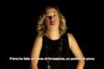 """La giovane attrice con sindrome di Down Ludovica Boccacini, in un'immagine del video recitato """"La storia di Chiara"""", realizzato nell'àmbito del progetto della FISH """"JobLab"""""""