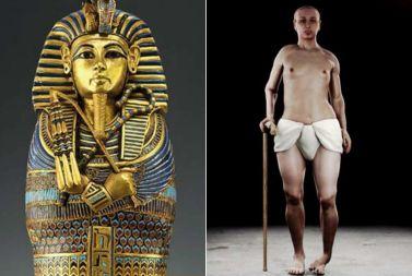 Tutankhamon, sarcofago e ricostruzione della figura