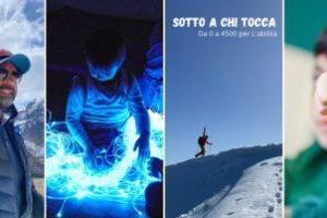 Un collage di immagini dedicato all'impresa di Andrea Mezzani, in favore dell'Associazione L'abilità