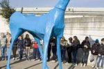 Marco Cavallo, scultura di legno e cartapesta, che fu realizzata nel 1973 a Trieste