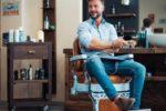 """Christian Plotegher, nel suo Salone """"Barber Factory 1975"""" di Rovereto (Trento)"""